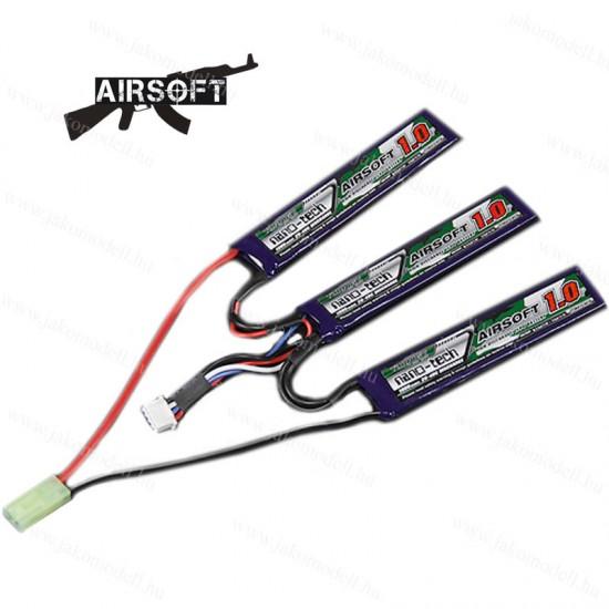 AIRSOFT LiPo akkumulátor 11.1V 1000mAh 20-40C osztott