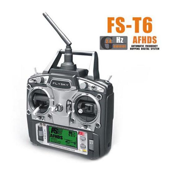 FlySky FS T6 2.4Ghz 6Ch Tx & Rx V2 távirányító 1 vevővel