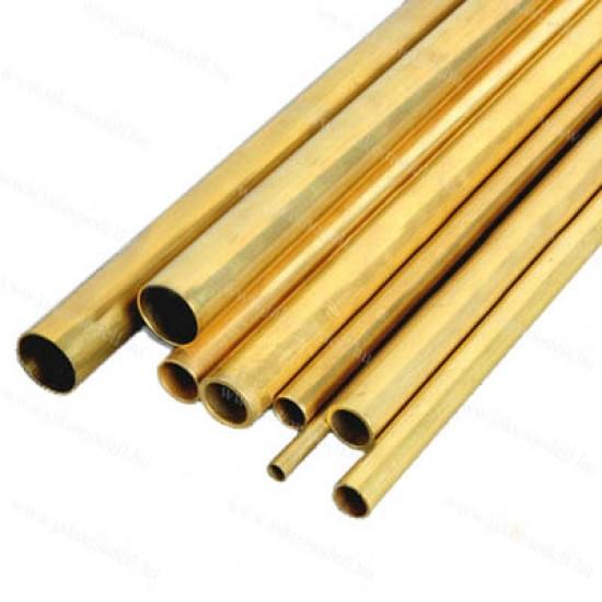 Sárgaréz cső - kemény 3,0/1,7/1000mm